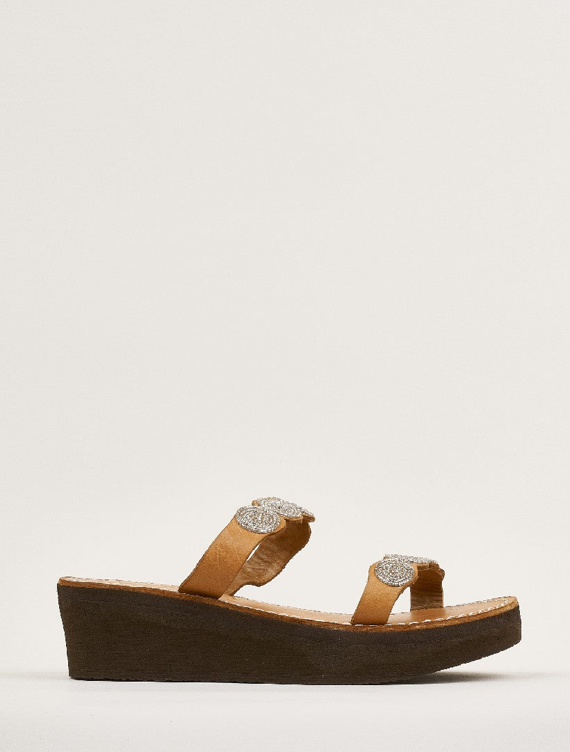 Kaitlyn Wedge Light Brown Silver