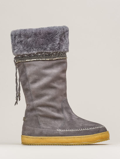 Kili Tall Pull On Boot Grey Suede