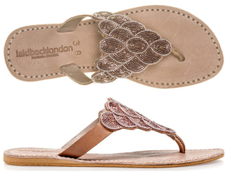 Laith Flat Tan Silky Pink