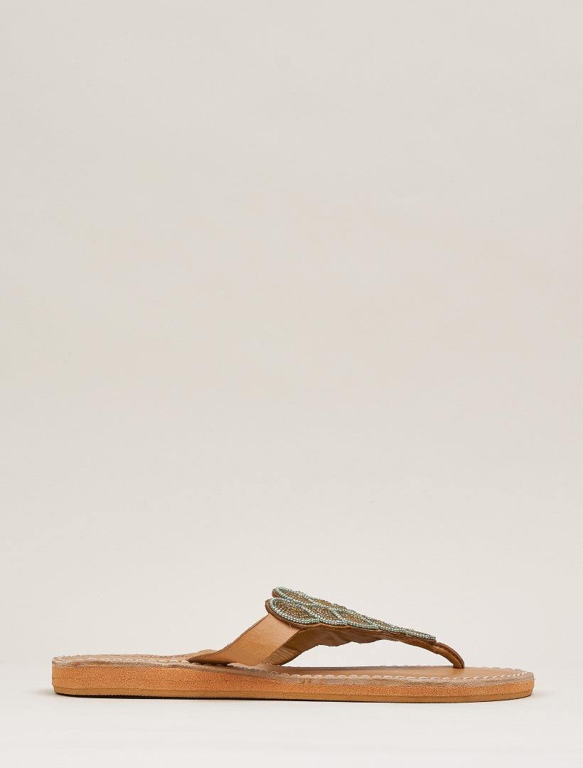 Laith LP Light Brown Metal Green/Gold