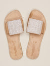 Leven Lp Slide Leather Sandal Snow White