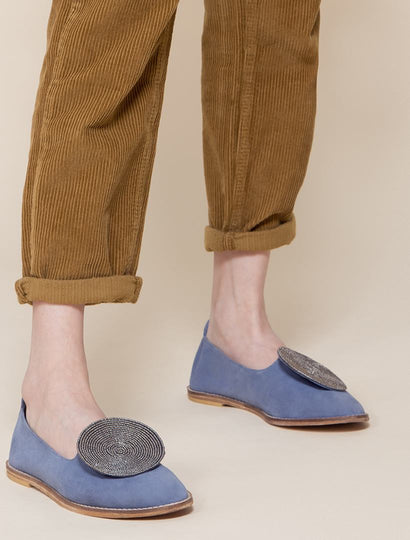 Moli Blue Suede Pewter