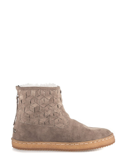 Raigan Woven Taupe Suede