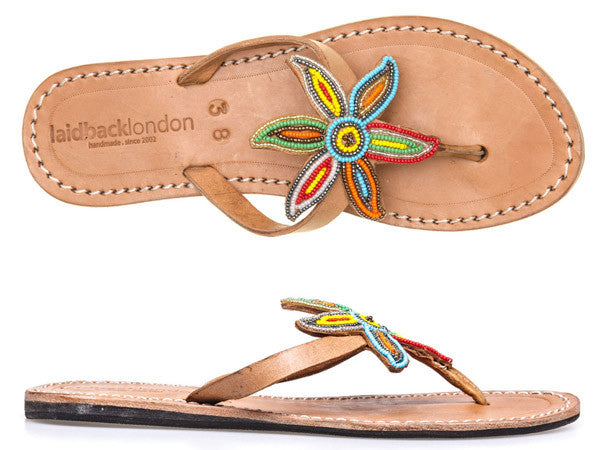 Sanaa Flat Mid Brown Tribal II