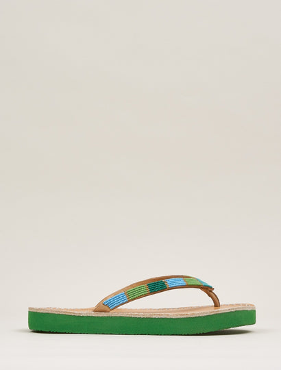 Seri SSG Leather Sandal Green Mix