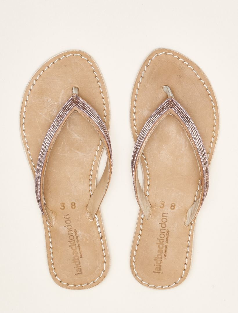 Seri SSR Tan Leather Sandal Silky Pink