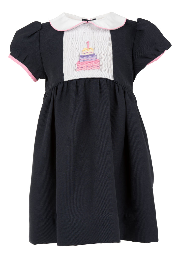 "Birthday Cake Short Sleeve Dress ""1"", , Carriage Boutique, Imagewear"