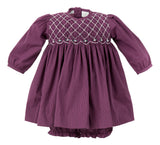 Purple Plaid Long Sleeve Dress, , Carriage Boutique, Imagewear