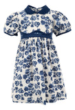 Fall Florals Short Sleeve Corduroy Dress, , Carriage Boutique, Imagewear