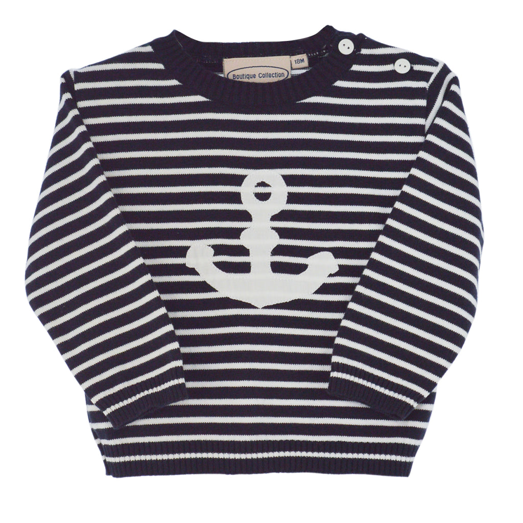 Boys Sweaters Pull Over-Navy, , Carriage Boutique, Imagewear
