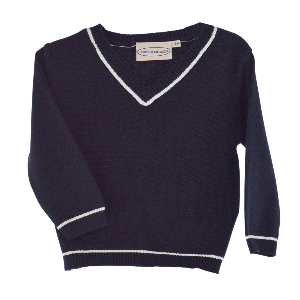 Boys Sweaters Pull Over Navy, , Carriage Boutique, Imagewear
