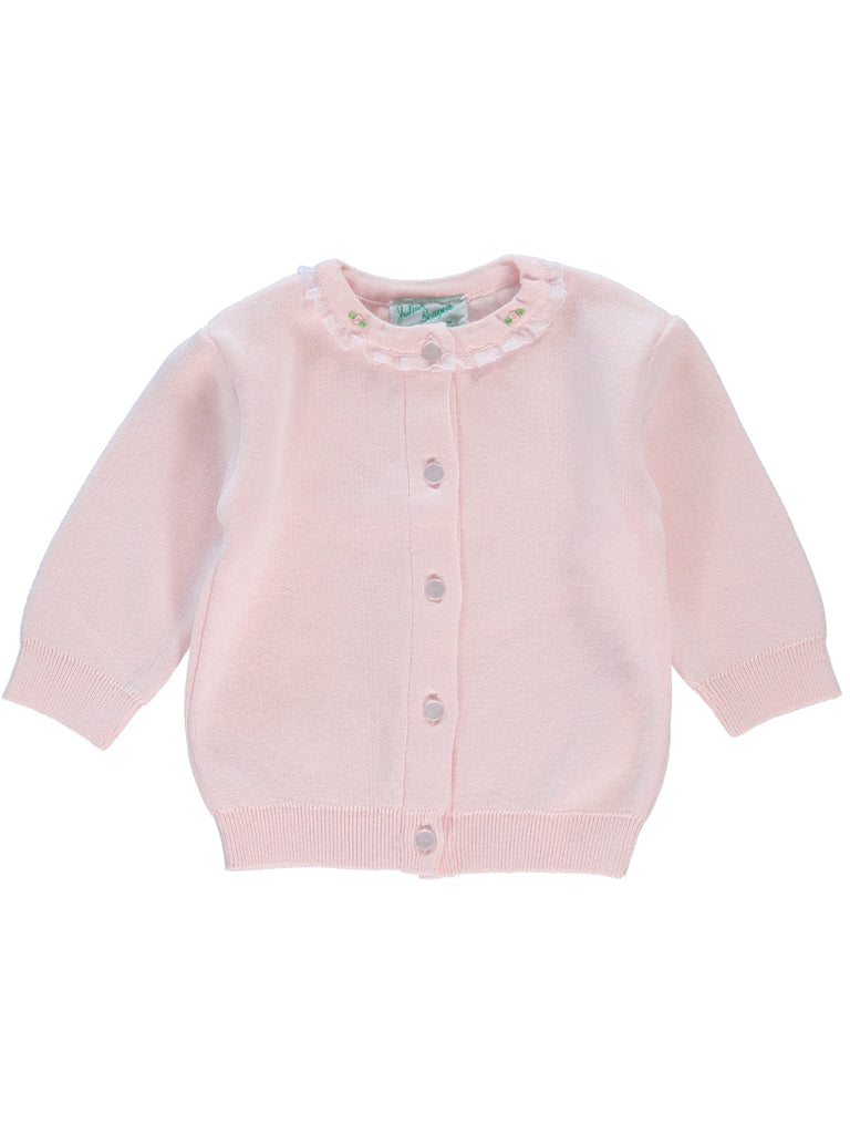Rose Bud Girl Cardigan Pink, , Julius Berger, Imagewear