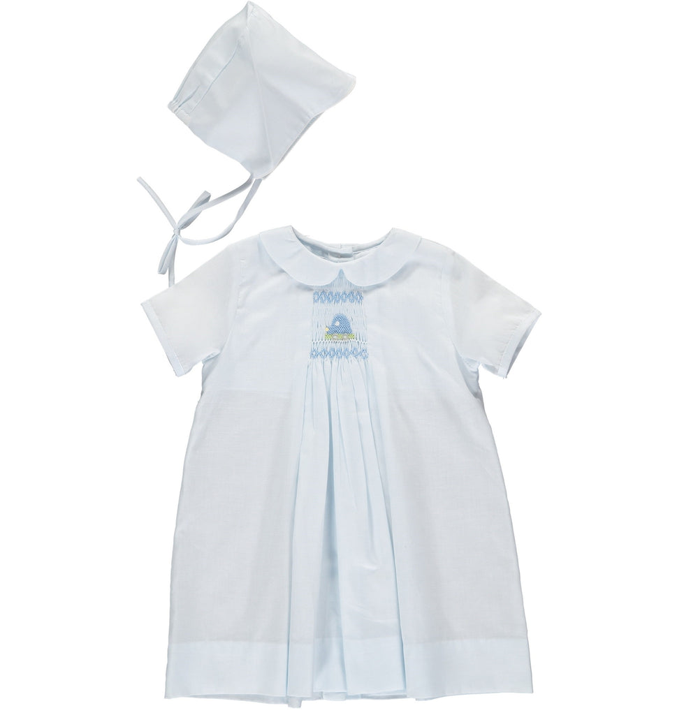 Baby Boys One Size Only Day Gown and Hat - Car Smocking, , Carriage Boutique, Imagewear