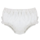 Knitted Panty Diaper Covers - White Bloomers with Ruffles, , Carriage Boutique, Imagewear
