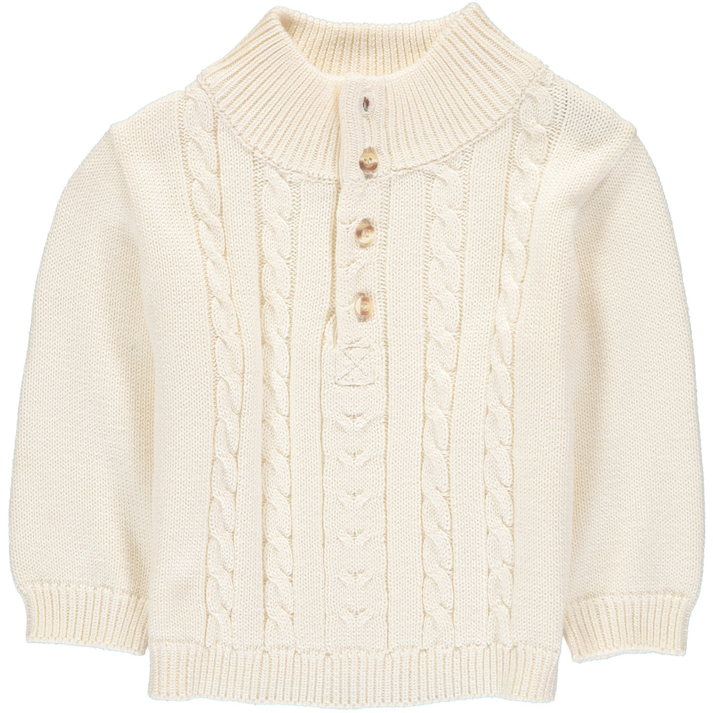 Boys Sweaters Pullover Off Wht., , Carriage Boutique, Imagewear