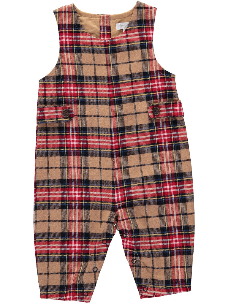 Tan Tartan Long Jon Jon, , Carriage Boutique, Imagewear