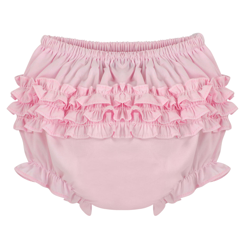 Ruffle Panty Diaper Covers - Pink Classic Bloomers, , Carriage Boutique, Imagewear