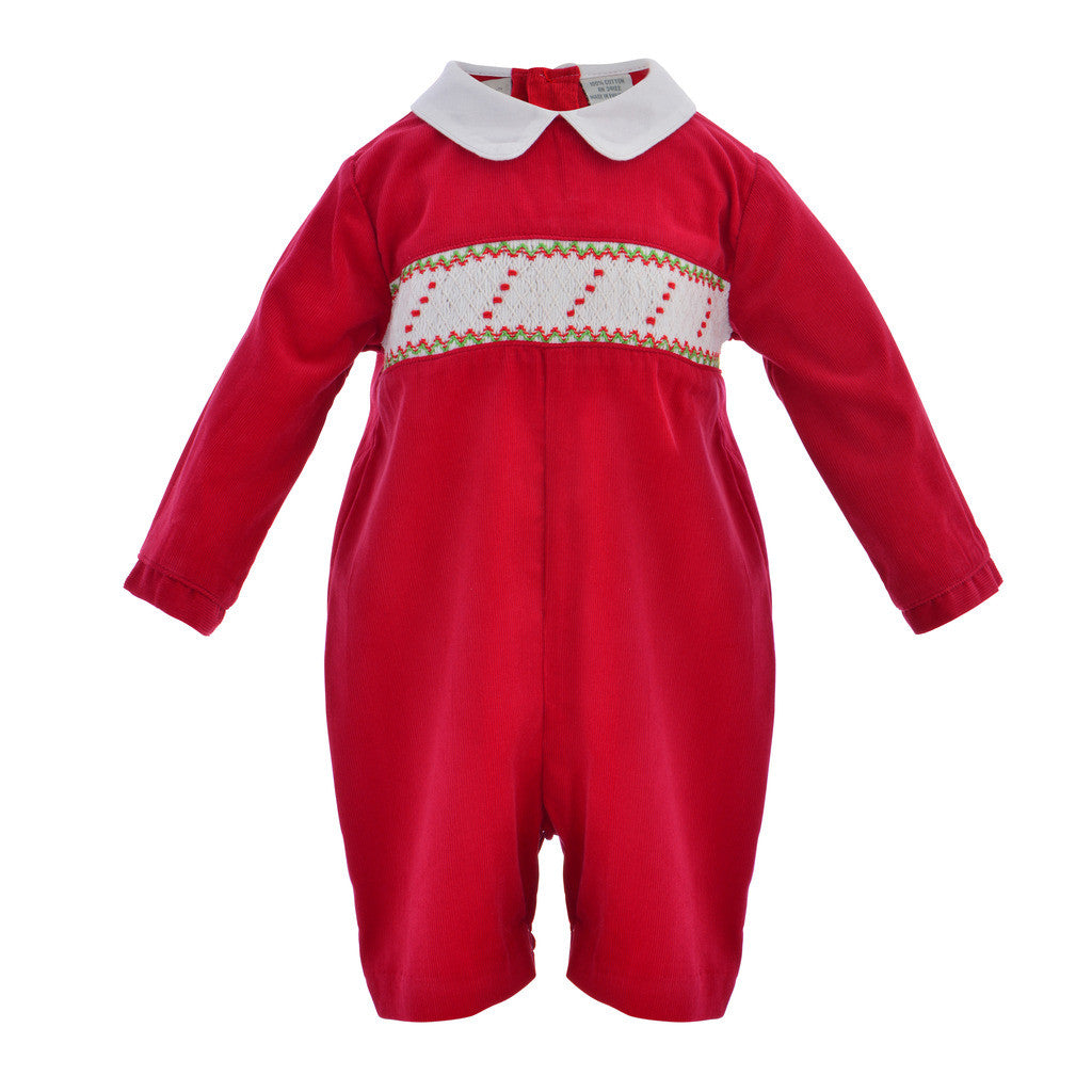Red Corduroy L/S Shortall, , Carriage Boutique, Imagewear
