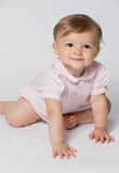 Baby Girls Hand Smocked Bubble - Pink Giraffe, , Carriage Boutique, Imagewear