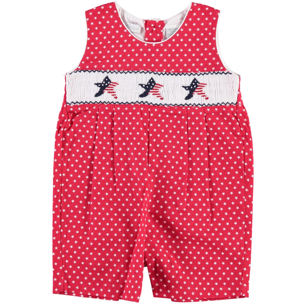 America Themed Shortall w/ Hand Smocking, , Carriage Boutique, Imagewear