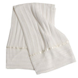 Blankets Silk Lines-Ivory, , Carriage Boutique, Imagewear