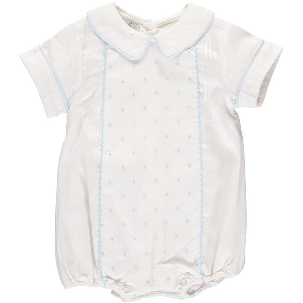 Baby Boys Dots Creeper, , Carriage Boutique, Imagewear