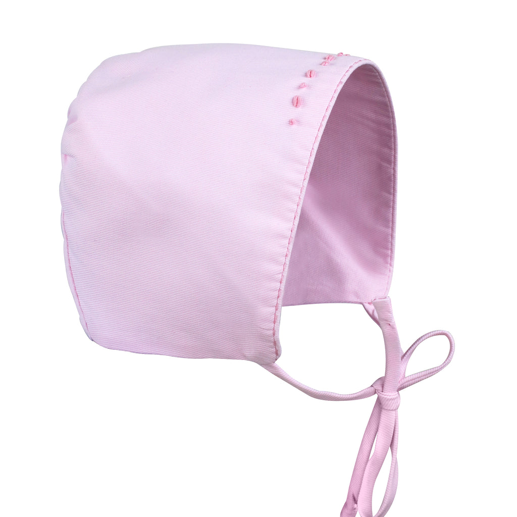 Baby Girls Hand Embroidered Gown - Pink Empire Waist, , Carriage Boutique, Imagewear