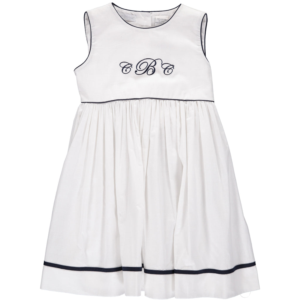Monogram Blanks Sleeveless Dress, , Carriage Boutique, Imagewear