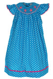 POLKA DOT FLOWERS  BISHOP DRESS, , Carriage Boutique, Imagewear