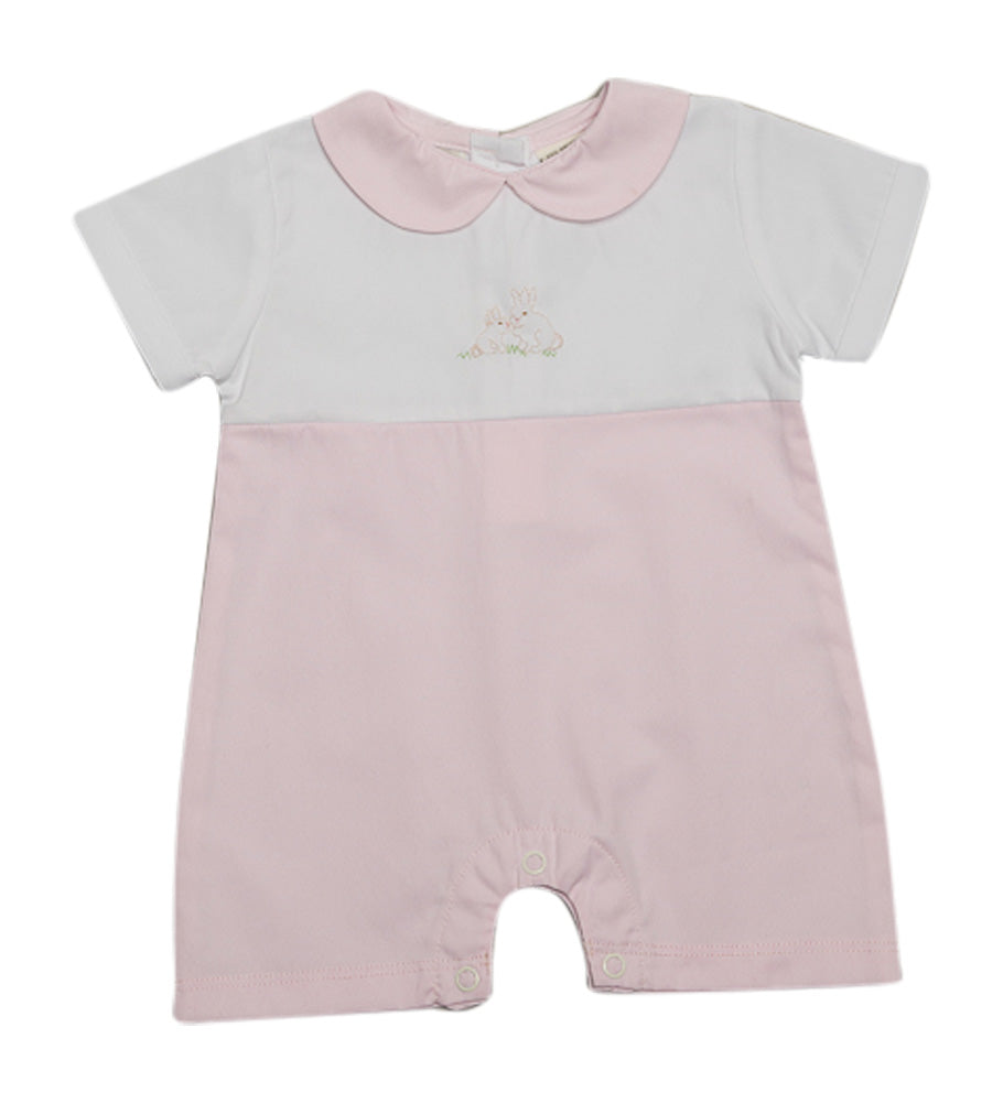 EASTER BUNNIES  PINK SHORTALL, , Carriage Boutique, Imagewear