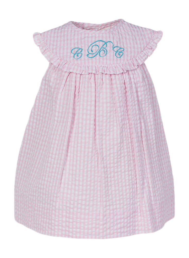 MONOGRAM GROUP PINK DRESS, , Carriage Boutique, Imagewear