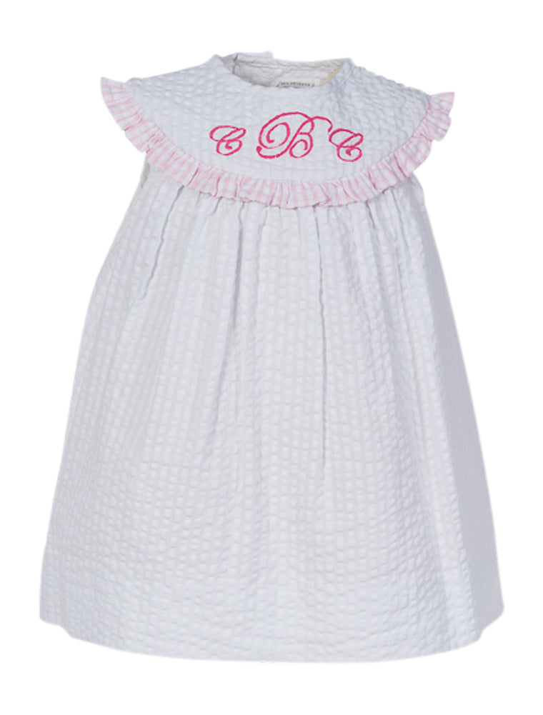 MONOGRAM GROUP WHITE DRESS, , Carriage Boutique, Imagewear