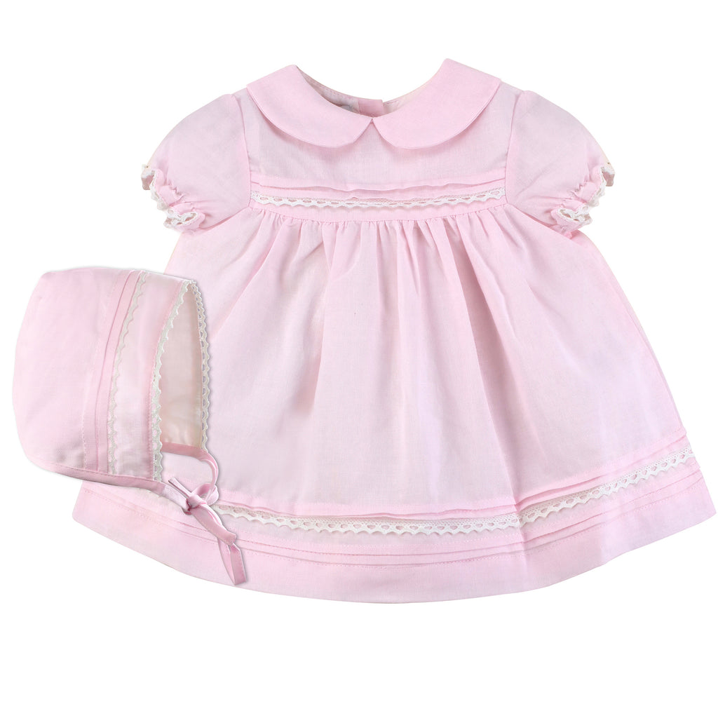 Baby Girl Lace Pink Dress, , Carriage Boutique, Imagewear