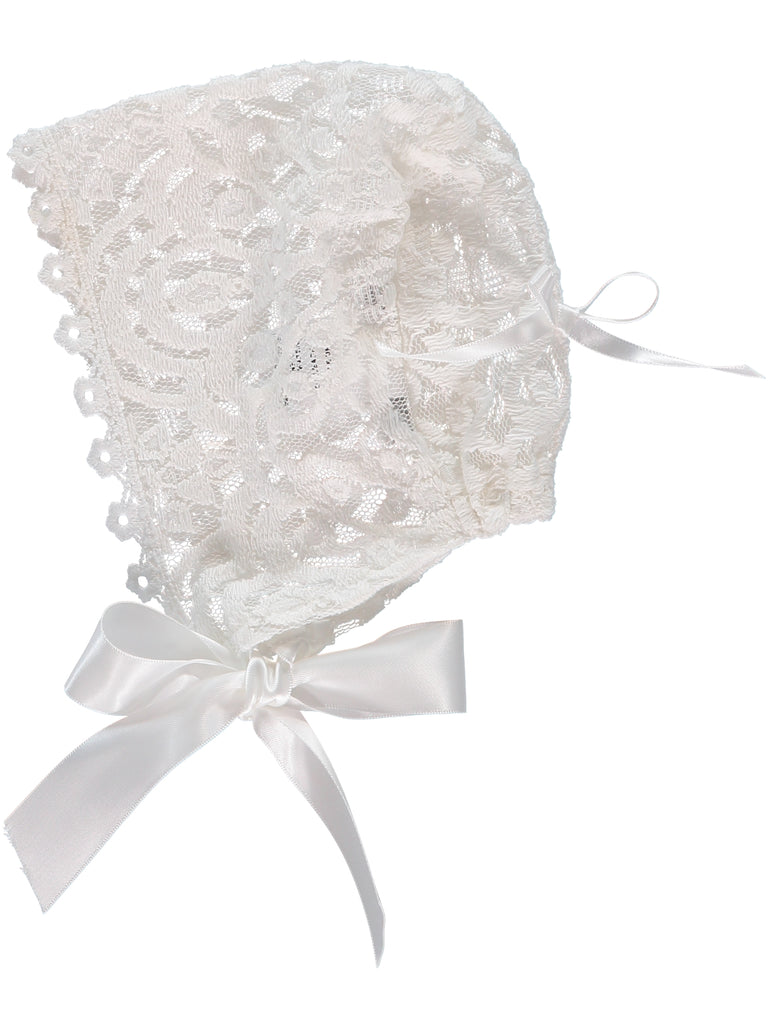 Baby Girl Lace Bonnet, , Carriage Boutique, Imagewear