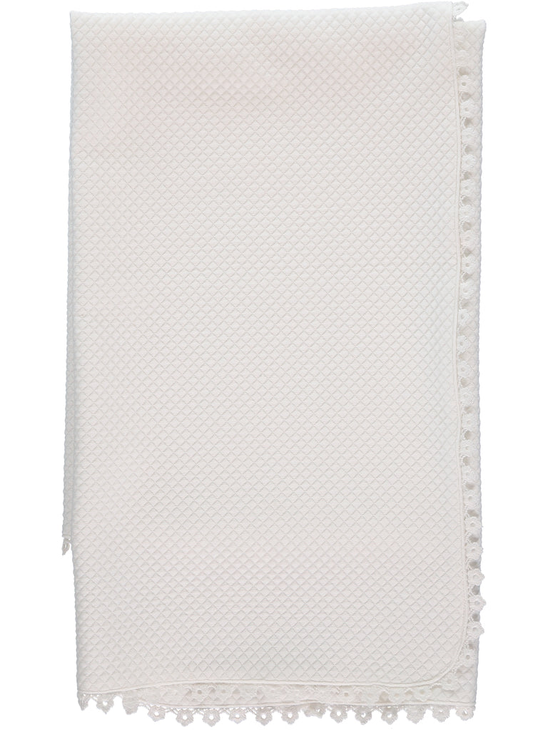 Special Occation Off-White Quilted Blanket, , Carriage Boutique, Imagewear
