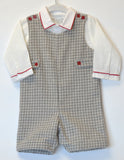 COZY ELEGANT GREY CHECK 2PC JON JON SET, , Carriage Boutique, Imagewear