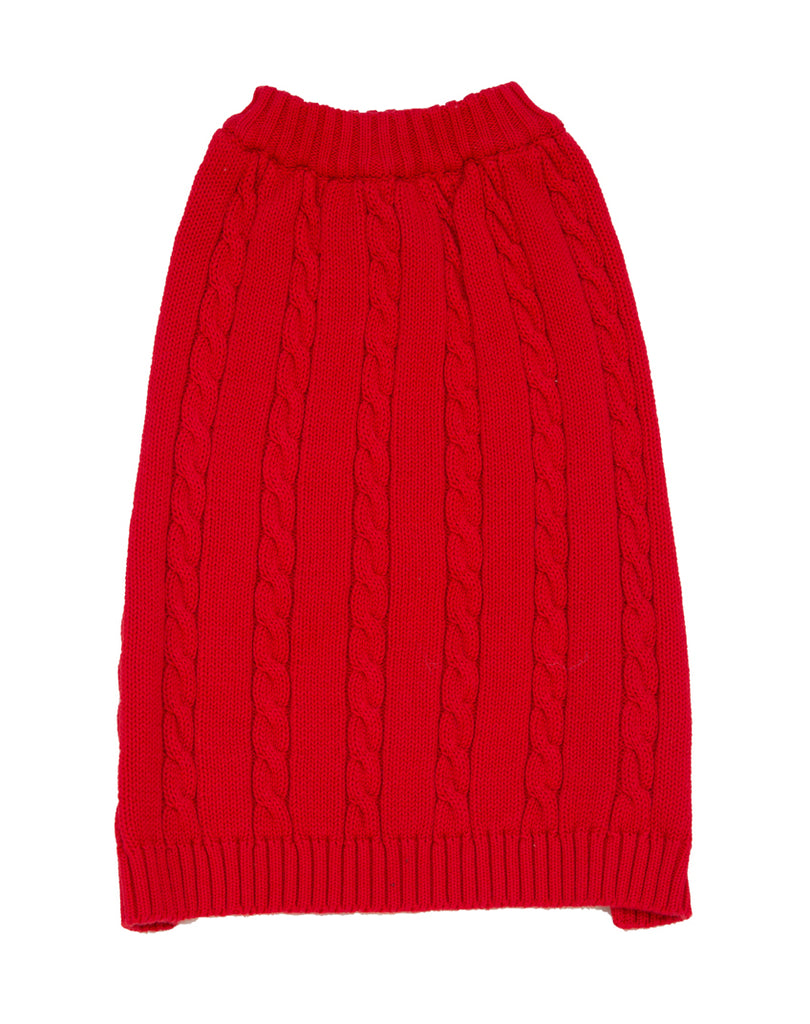 Dog Red Cable Sweater, , Imagewear, Imagewear