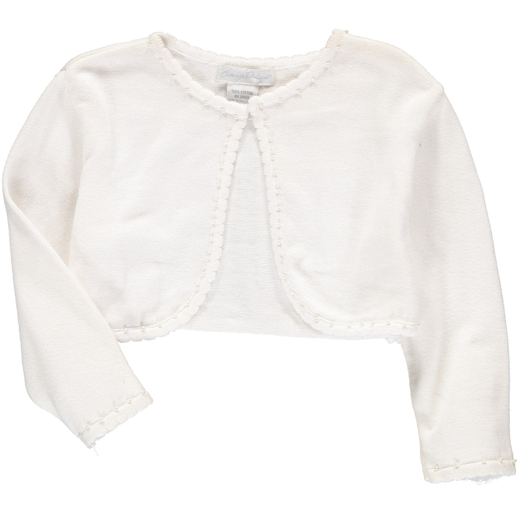 Girls Sweaters Bolero Off White, , Carriage Boutique, Imagewear