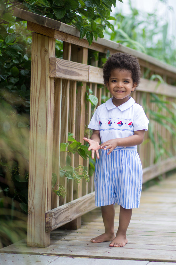 Stripe Sailboat Bobbie Suit, , Carriage Boutique, Imagewear