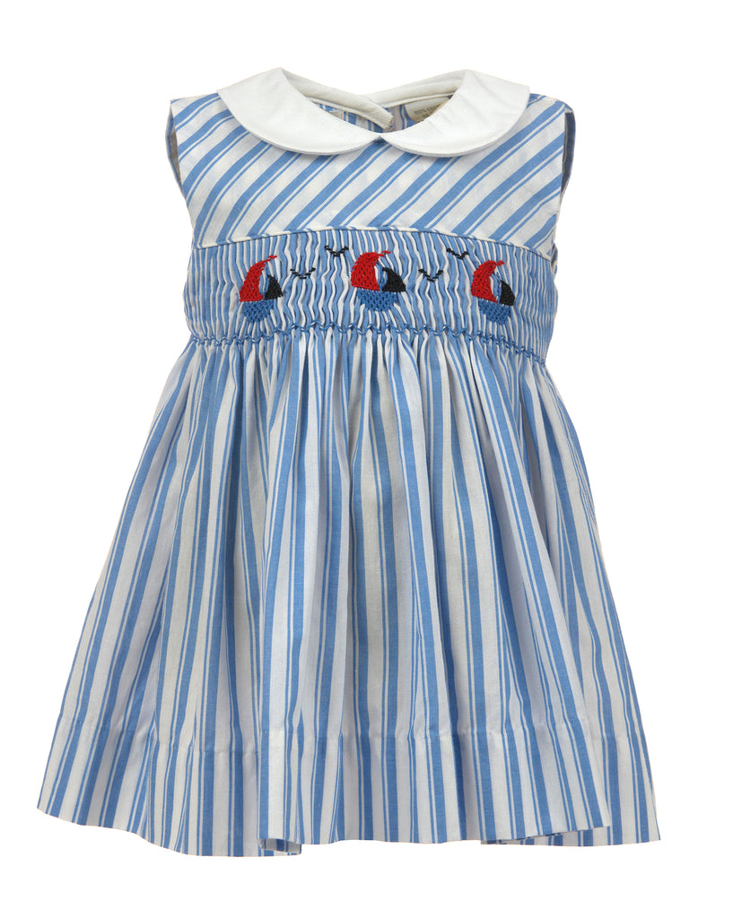 Stripe Sailboat Sleeveless Dress, , Carriage Boutique, Imagewear