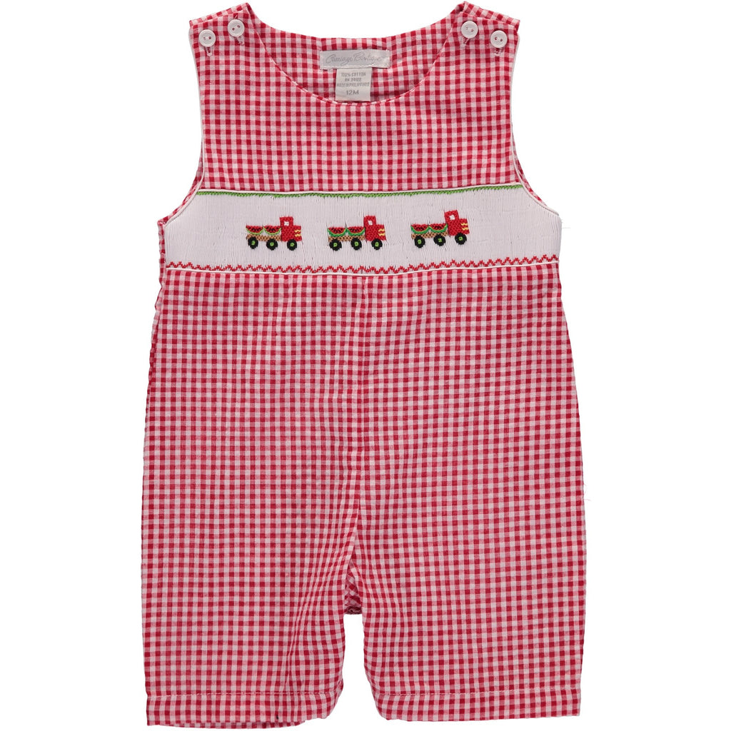 Watermelon Truck Romper - Red & White - Infant & Toddler