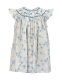 Dancing Daisies Bishop Dress-Blue, , Carriage Boutique, Imagewear