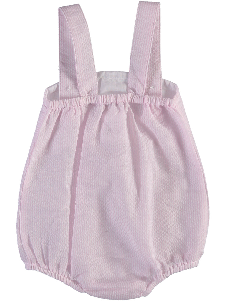 Monogram Seersucker Sunsuit-Pink