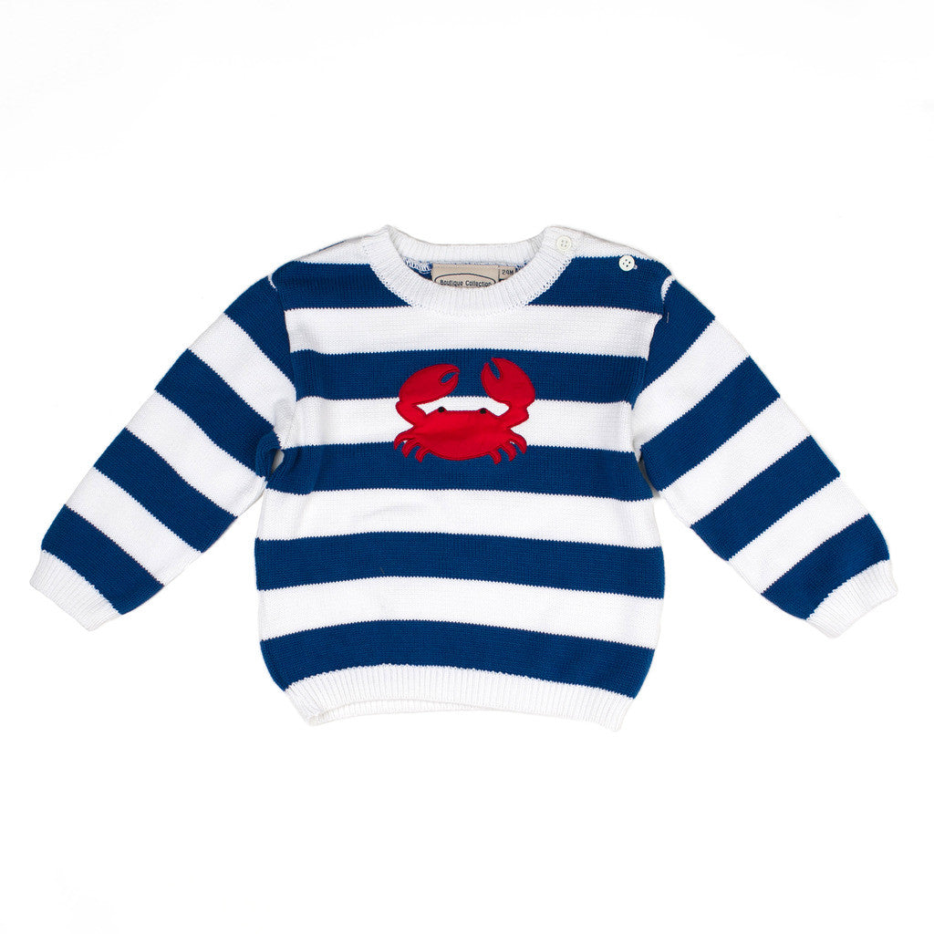 Boys Sweaters Crab Pullover, , Carriage Boutique, Imagewear