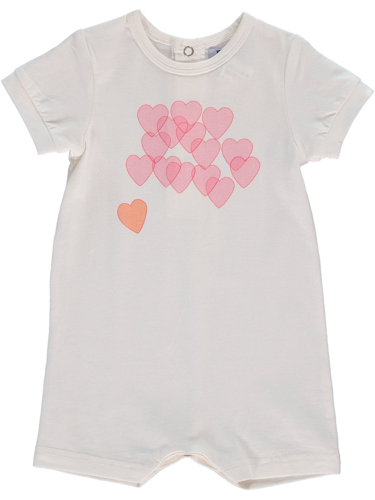 Hearts  Off White  Bubble, , Piccino Piccina, Imagewear