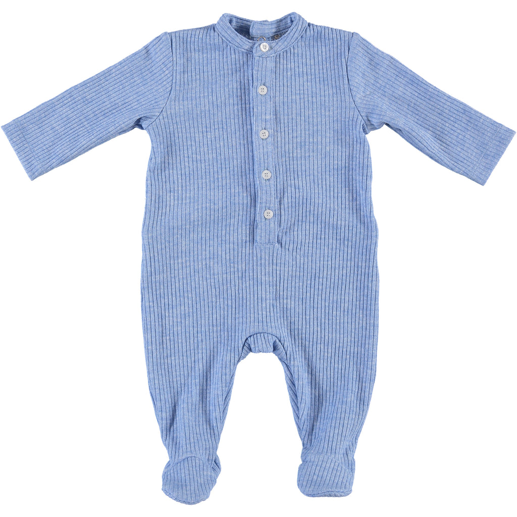 Body Fitted Baby Footsie - Light Blue, , P & P, Imagewear