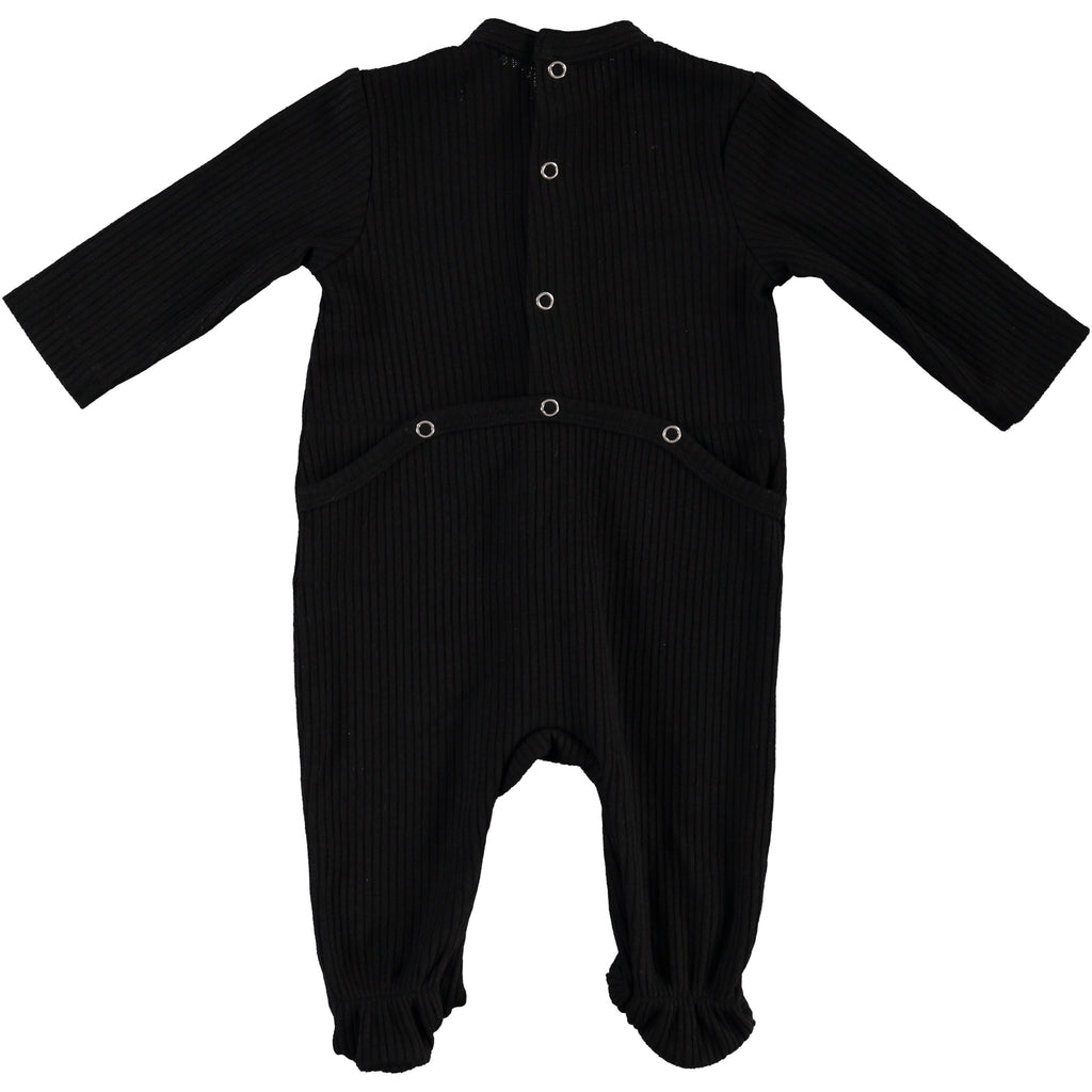 Body Fitted Baby Footsie - Black, , P & P, Imagewear