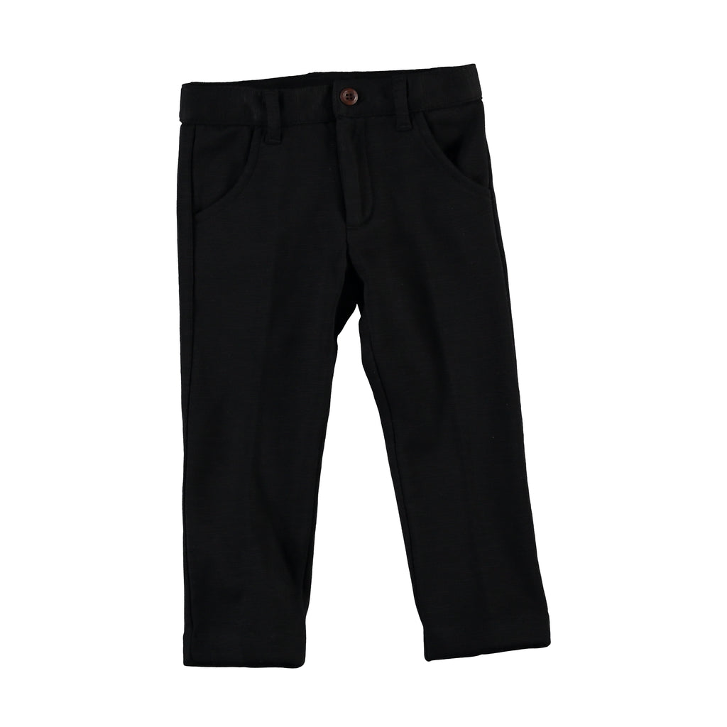 Black Solid Pants, , PICCINO PICCINA, Imagewear