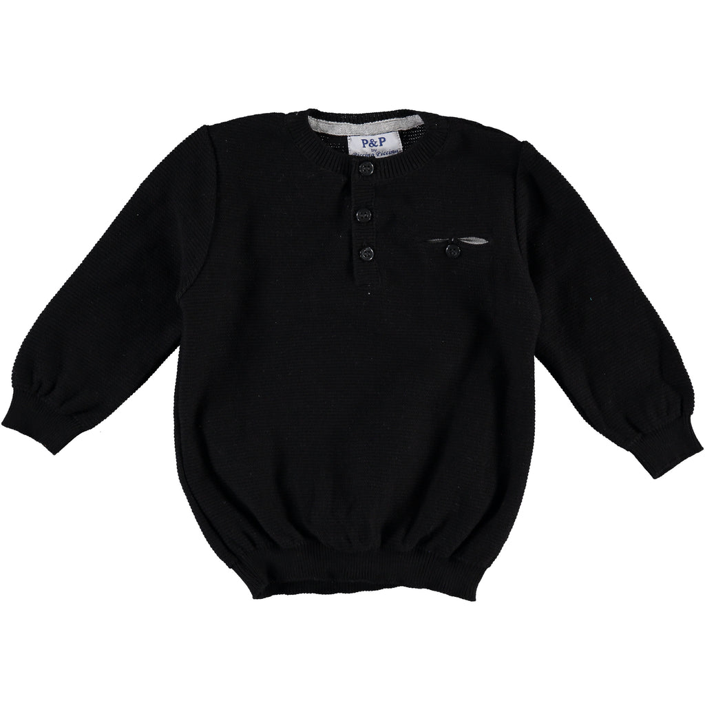 Black Pullover Sweater, , P & P, Imagewear