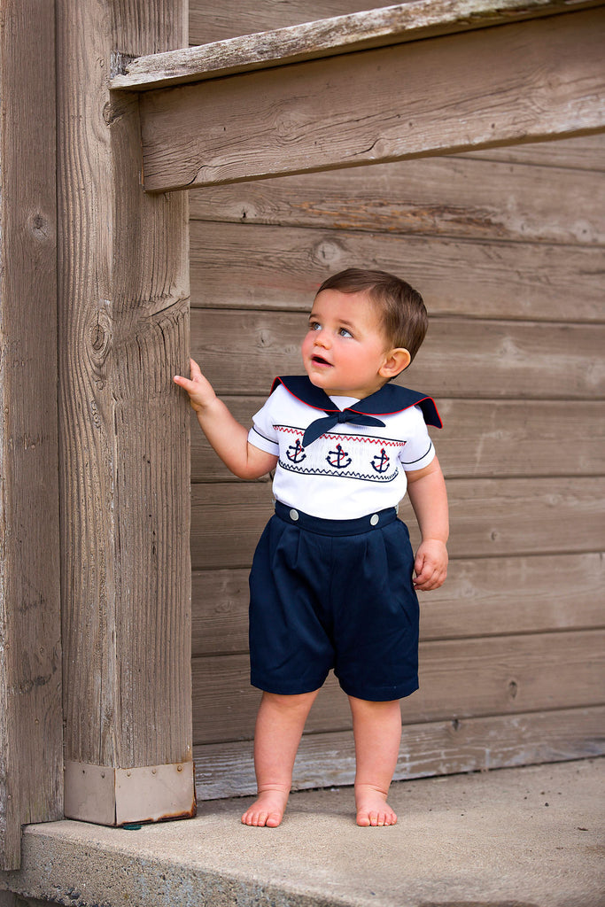 Smocked Sailing  Bobbie Suit, , Carriage Boutique, Imagewear